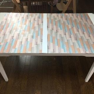 お値下げ IKEA伸長式テーブル ホワイト