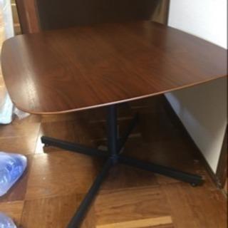 未使用オーク材木製天板リビングセンターテーブル 高さ60㎝正方形8...