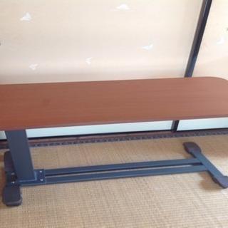 介護用品 ガス圧式昇降ベッドテーブル