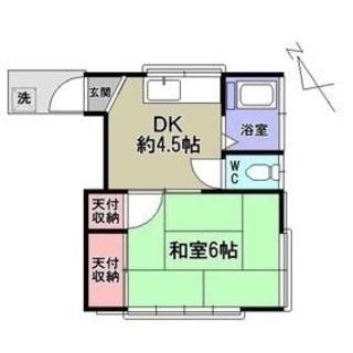 JR蕨駅で家賃3万円台!徒歩12分の広い1K、家賃安価。南向き角部...