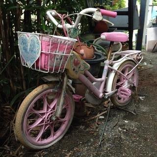 フレッシュプリキュア 16インチの女児用自転車