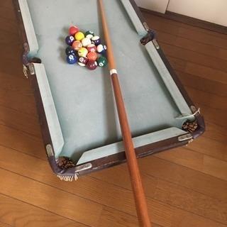 【取引完了】ビリヤード テーブル ボール キュー セット