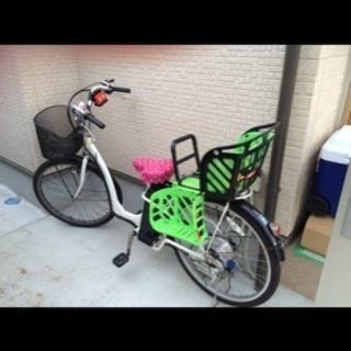 後ろ子供乗せ電動自転車 ホワイト