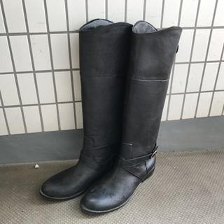 レインブーツ★LLサイズ★24-25cm★ウェスタンブーツ風★黒