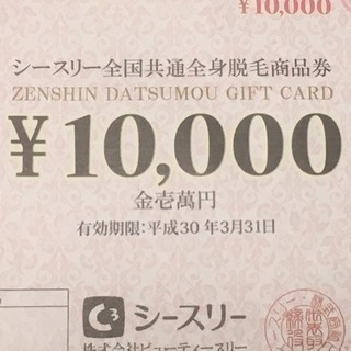 全身脱毛9ヵ月0円+8万円相当の商品券