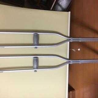 アルミ製松葉杖 2本セット 中古美品 使用短い 手渡し or 送料...
