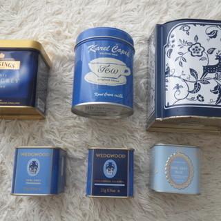 0円:空缶:ウエッジウッド:カレルチャペック等、紅茶の空缶:他:...