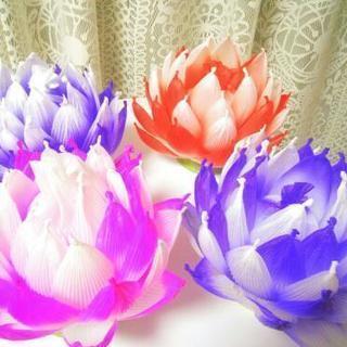 蓮の花のランプを作ってみませんか?