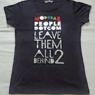 ユニクロ 黒地にカラフルデザインの半袖Tシャツ Mサイズ 試着だけ...