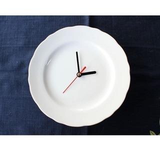 白磁時計 19cm 3点セット