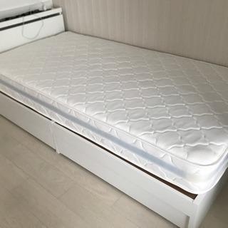使用期間4カ月マットレス付き!シングルベッド
