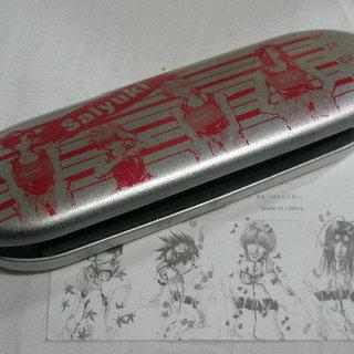 最遊記 缶ペンケース ・ ピンバッチセットと非売品トレカ2枚セット
