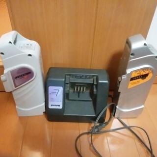 Panasonic電動自転車用充電器とバッテリー2個