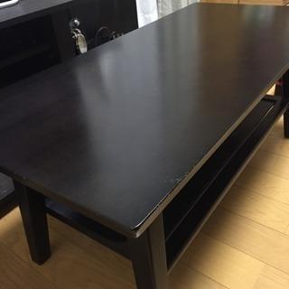 黒塗り 木製ローテーブル