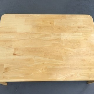 白木パイン材の足折りロー テーブル 大型家具