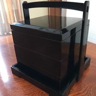 木製本漆塗 三段重箱