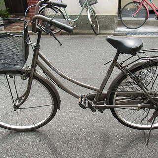 無料配達地域あり、26インチ、ブラウンの整備した中古自転車を自転車...
