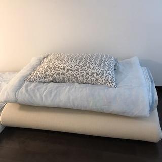 値下げしました。【寝具セット】シングルマット、ダブルマット、掛け布...
