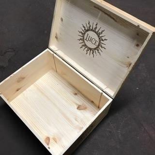 蝶番付きワイン木箱