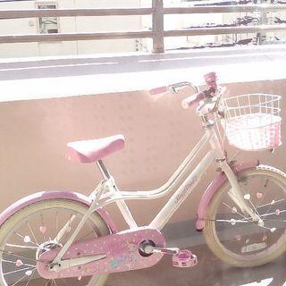 メゾピアノ子供用自転車18インチ (補助輪もあります)