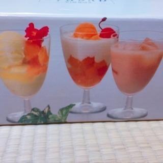 【未使用】パフェガラスコップ6個セット