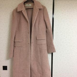 ピンクのコート アルパカの毛 値下げ