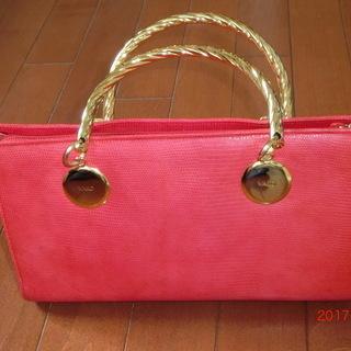 銀座 和光(WAKO)ピンクのハンドバッグ
