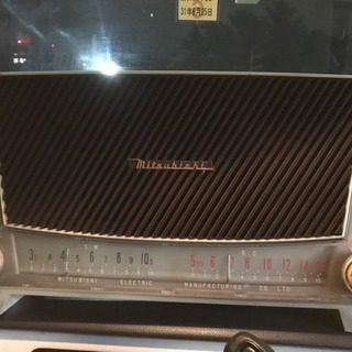 MITSUBISHI ラジオ 真空管