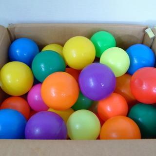 カラーボール 48個 大小詰め合わせ ボールプールに