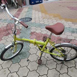 【整備済】20インチ 折り畳み自転車 イエロー
