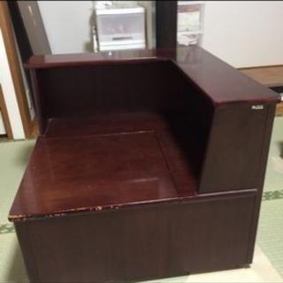 カリモク 収納付きコーナーテーブル
