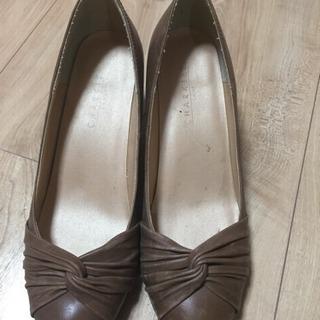 23.5 革靴 茶色