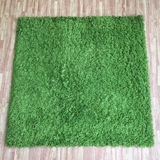 IKEA グリーンラグマット 80×80