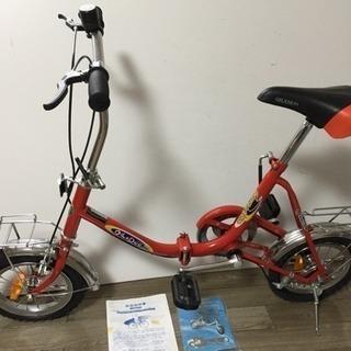 ★極美品★折り畳み自転車 QILE DUO 2002 赤色 レッド