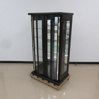 【終】札幌引取限定 大雪木工 ガラス棚 テック25 キュリオ 飾り棚 N