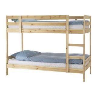 ほぼ新品IKEA MYDAL 2段ベッドパイン材