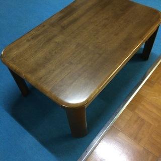 ローテーブル、大理石天面板付