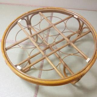 ガラス ローテーブル(丸型)