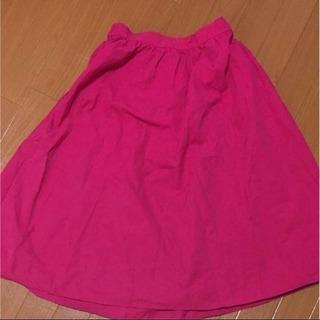 GU  ピンク  フレアスカート