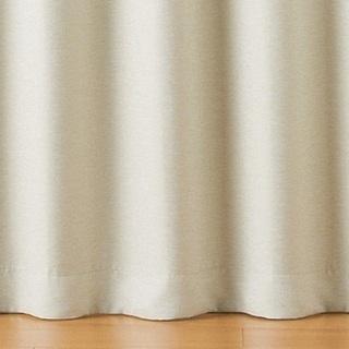 【美品】ポリエステル二重織プリーツカーテン(防炎・遮光性)2枚1組
