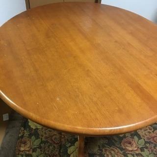 丸テーブル+椅子2脚セット
