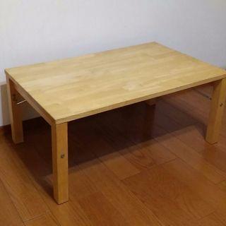 (お話中)無印良品 天然木:折りたたみローテーブル