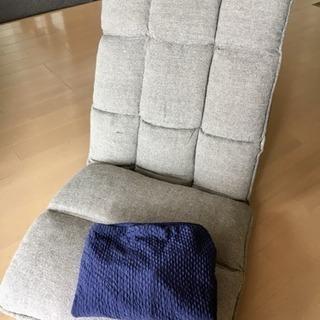 ニトリ リクライニング座椅子& 未使用の座椅子カバーセット