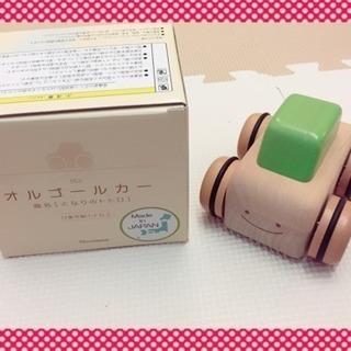 【取り引き中】車おもちゃ☆木製オルゴールカー☆トトロ ☆日本製