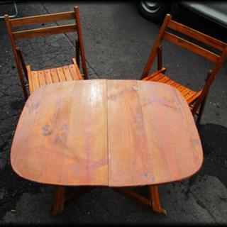 ガーデンテーブル 椅子付き 屋外でお茶するのに憧れます 作りもしっ...