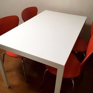 白テーブル・椅子セット