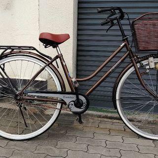 ♪ジモティ特価♪パイプキャリア付きおしゃれな26型中古自転車 新大...