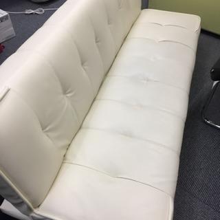 値下げ✨白革ソファーベッド