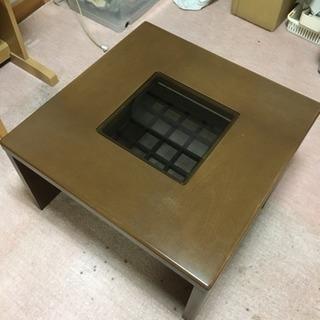 富士ファニチア ガラス入り座卓