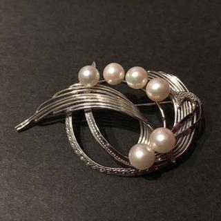 本真珠 パール すずらんブローチ 美品